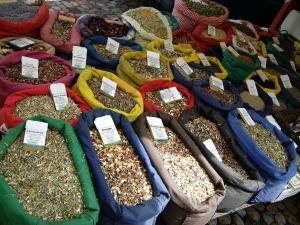 Marktstand-Teesorten