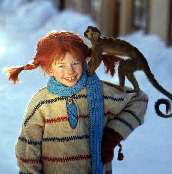 """Pippi Langstrumpf""-Star Inger Nilsson wird 50 Inger Nilsson in ""Pippi Langstrumpf"""