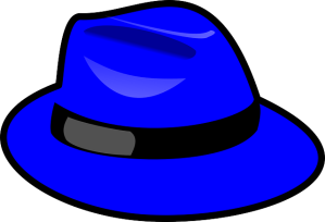 Hut-blau